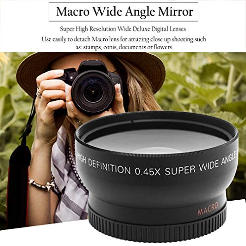 62mm Front Lens Cap (Leoboone Professional 52MM 0,45 x Weitwinkel Makroobjektiv für Nikon D3200 D3100 D5200 D5100 Schwarz Superweitwinkel)