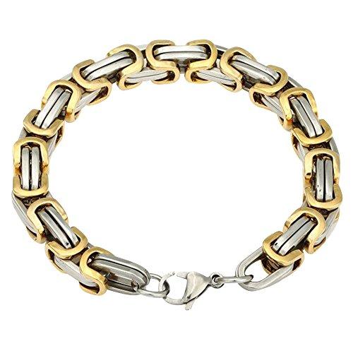 Contever® Edelstahl Armband Link Handgelenk Königskette Bracelet Punk Rock Herren Männlich Farbe 23 cm (L) x 0.8cm (W)