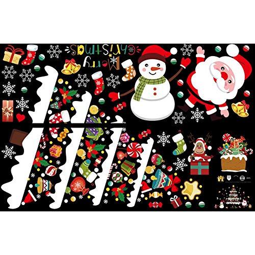 XiangRenShunYi Christmas Tree Santa Claus Snowman Wall Stickers Shop Window Glass Decals