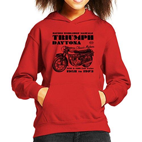 Haynes Owners Workshop Manual Triumph Daytona 350 500 Kid's Hooded Sweatshirt - Daytona 500 Spiel
