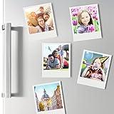 thumbs Up! - Cadre magnétique rétro - appareil photo instantané - pack de 5 - décoration pour réfrigérateur - mesures: 8 x 8 cm - 1001561