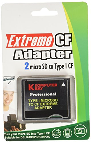 Komputerbay MicroSD auf CompactFlash-Adapter High Speed   Micro SD bis Compact Flash Typ I CF -