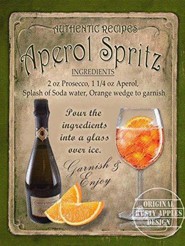 Aperol Spritz Cocktail Rezept Pub, Man, Schuppen, Home Decor: Metall Schild Tolles Geschenk