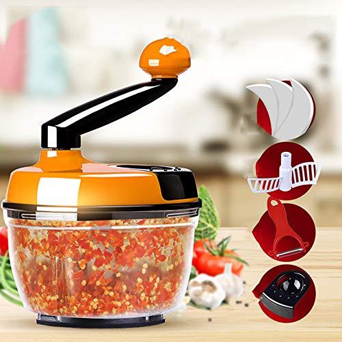 Manuelle Essen Chopper Hand Crank Fleischwolf Mixer Blender Cutter mit klaren Container zu hacken Fleisch Obst Gemüse Nüsse Kräuter Zwiebeln Knoblauch - Chopper Fleisch Hand