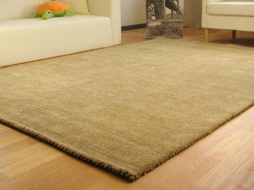 Gabbeh Teppich Nomade - Handarbeit aus 100% Schurwolle - sand, Größe: 160x230 cm -