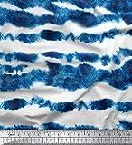 Soimoi Shibori Print Indigo Blau 20 GSM 44 Zoll Breit Reine