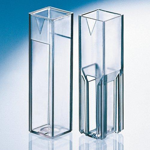 Thomafluid Makro-Küvette aus PS - glasklar, Inhalt: 2,5 ml, Abmessung: 10 x 4 mm, 100 Stück