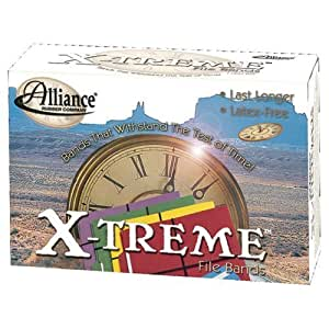 ALLIANCE 2004 X-treme File Bands, #117B, 7 x 1/8, Black, Approx. 175 Bands/1lb Box by Alliance