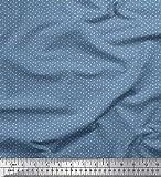 Soimoi Blau Baumwolle Ente Stoff Halbmond Hemdenstoff Stoff