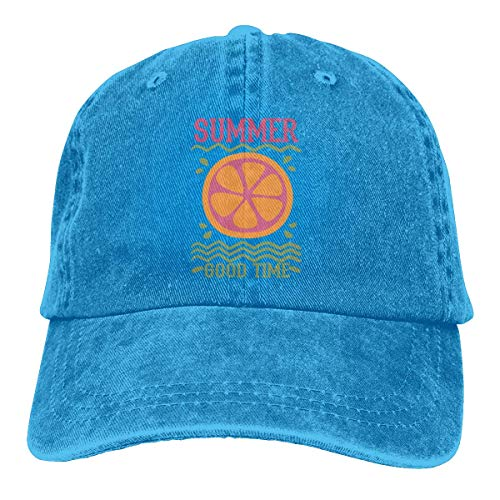 Nifdhkw Summer Lemon Good Time Unisex Washed Adjustable Fashion Cowboy Hat Denim Baseball Caps Multicolor54 - Hüte Urban Cowboy Hüte