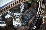 Hedo 2 Stück ECHT Leder Universal Sitzbezug Sitzauflage Schonbezug schwarz