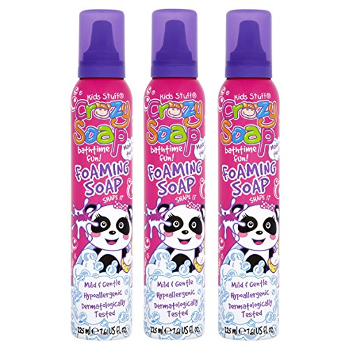 Kids Stuff Crazy Soap Pink Panda Foaming Soap 225ml (Pack of 3)