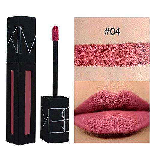 Cadeau amoureux,KIMUSE 12Colors Brillant Brillant À Lèvres Longue Durée Anti-Adhésif Rouge À Lèvres,Lèvres Maquillage cosmétique beauté (D)