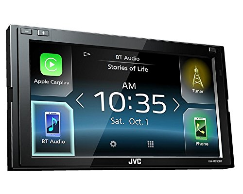 JVC Radio KWM730BT 2 DIN Apple CarPlay Android Auto mit Einbauset für Dodge RAM (DR/DH Facelift) 2006-2008 (Navigation 2007 Ram Dodge Radio)