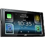 JVC Radio KWM730BT 2 DIN Apple CarPlay Android Auto mit Einbauset für Opel Zafira B 2005-2014 matt chrom