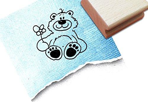 Teddybär-stempel (Stempel - Kinderstempel Tine TEDDY-BÄR - Motivstempel für Kita, Kinderzimmer und Schule - Bildstempel zum Malen und Basteln, für groß und klein - von zAcheR-fineT)