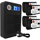 Dot-01 4X Brand 2400 Mah Replacement Canon Lp-e6 Batteries And Smart LCD Display Dual Charger For Canon Eos 60d Digital SLR Camera And Canon Lpe6