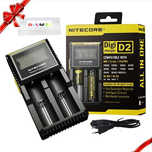 Galleria fotografica Nitecore Intellicharger D2 2016- 18650 Caricabatterie intelligente per batterie agli ioni di litio e NiMH