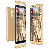 CE-Link Huawei Mate 10 Lite Hülle Hardcase 3 in 1 Handyhülle 360 Grad Hard Hartschale Grad Full Body Case Cover Schutzhülle Bumper - Gold