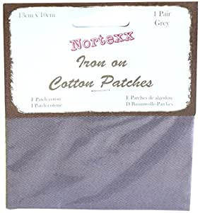 Nortexx Iron on Clothing Patches, Pair of 1, Grey