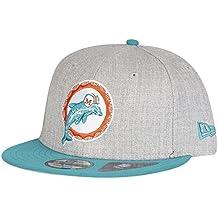 New Era 9FIFTY–Gorra ajustable, diseño de Miami Dolphins Heather
