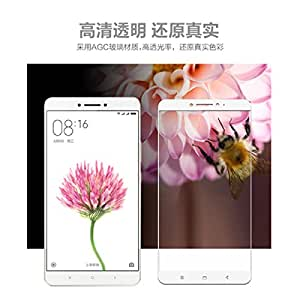 Case Creation 3D Arc Edge Full Body Front Edge To Edge Tempered Glass Screen Scratch Guard Protector For For Xiaomi Mi Max / Xiaomi Mimax - 6.44 Inch Milky White