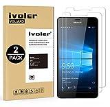 iVoler [2 Pack] Pellicola Vetro Temperato per Microsoft Lumia 950 [Garanzia a Vita], Pellicola Protettiva, Protezione per Schermo