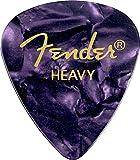 Fender 351 Classic Celluloid Picks 12-Pack (Couleurs assorties) Purple Moto (Heavy) - Lot de 12 médiators