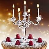MonsterZeug Kerzenhalter Torte Lüster, Kerzenständer Kuchen Transparent, Tortendekoration, Kerzenleuchter Torte, 9 Kerzen Kuchen, Tortenaufsatz Chandelier, Cake Topper