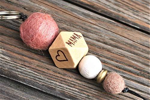 Schlüsselanhänger mit Name oder Wort // MUM //Hochzeitsgeschenk // Muttertag // Schlüsselanhänger // MAMA // personalisierbar // pro Seite 5 Buchstaben möglich -