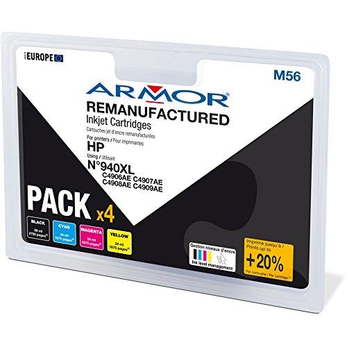 Preisvergleich Produktbild Armor b10321r1 Set 4 wiederaufbereitete Druckerpatronen kompatibel mit Drucker HP Officejet