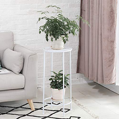 CMmin Klassische hohe Pflanze Stand Art Blumentopf Halter Rack Pflanzer unterstützt Garten & Home dekorative Töpfe Container Stand (Color : White) (Leichte Indoor-pflanzer)