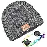 Bluetooth Hut,Unisex Bluetooth Mütze Waschbare Bluetooth Beanie Hut Drahtloser Music Cap mit Stereo Bluetooth Kopfhörer und Freisprecher Telefonbeantwortung Kompatibel mit Android und iOS (Verde militare)