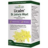 Natures Aid Ucalm St John's Wort Extract, 300 mg, 120 Tablets (Relief of the Symptoms of Slightly Low Mood and Mild Anxiety, Equivalent to 1500-2100 mg St John's Wort Herb, Vegan Society Approved)