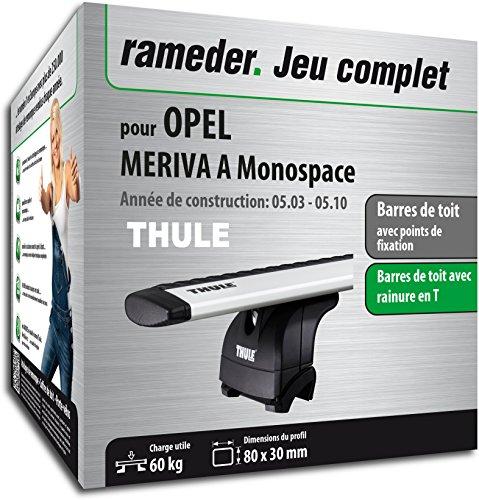 Rameder Pack Barres de Toit WingBar Evo pour Opel MERIVA A Monospace (114591-04926-6-FR)