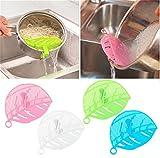 Hengsong Küche Werkzeug Blatt Shape Obst Gemüse Nudeln Abtropffläche Seiher Reis Wäschen Sieb Bohnen Erbsen Reinigung Wasch-Tools (Blau)