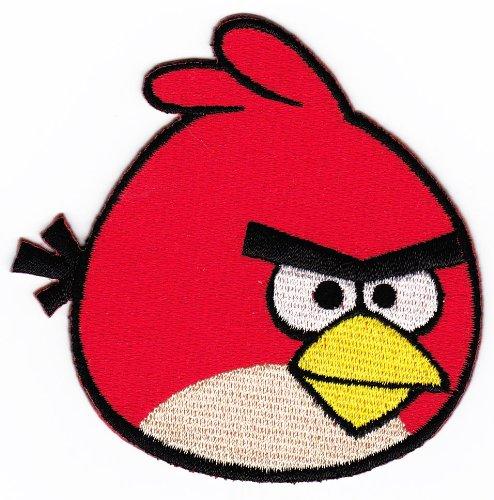 Aufnäher Bügelbild Aufbügler Iron on Patches Applikation Angry Bird (Angry Bird-auto-aufkleber)
