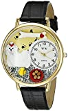 Whimsical Watches Unisex G0130051 Maltese Black Skin Leather Watch