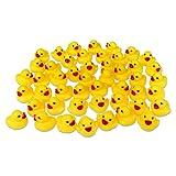 48er Pack Gummiente Quietsche Ente gelb ca. 3,5 cm Quietscheente Badeente Bade Ente Enten Badeenten Gummienten