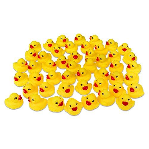 Schramm 48er Pack Gummiente Quietsche Ente gelb ca. 3,5 cm Quietscheente Badeente Bade Ente Enten Badeenten Gummienten