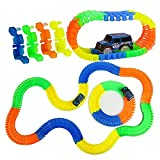 Planet of Toys Magic 11 Feet Long. Flexible Tracks 220-Piece Glow-in-The-Dark Racetrack