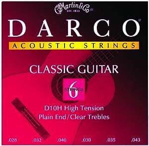Darco D10h haute tension Uni Extrémité clair aigus Cordes de guitare classique