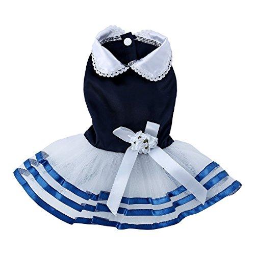 Soccik Niedlichen Kleiner Kleid Schoßhund Prinzessin Kleid Hunde Tutu Kleid Spitze Rüschen Rock Katze Kleiner Hund Kleidung XL ()