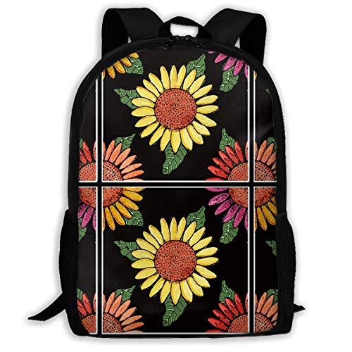 Wfispiy Sonnenblume Fliesen Outdoor Schultern Tasche Stoff Rucksack Mehrzweck Daypacks für Kinder (Jubeln-tasche Kinder)