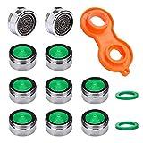 10 Stück Perlator Strahlregler M24, Wasserhahn sieb Einsatz, Mischdüse mit ABS-Filter inkl. Mischdüsenschlüssel, Perlatoren für Wasserhähne