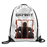 sd4r5y3hg Unisex Gym Bag Creative Design Black Ops 3 Call of Duty Game Logo Drawstring Backpack For Men and Women