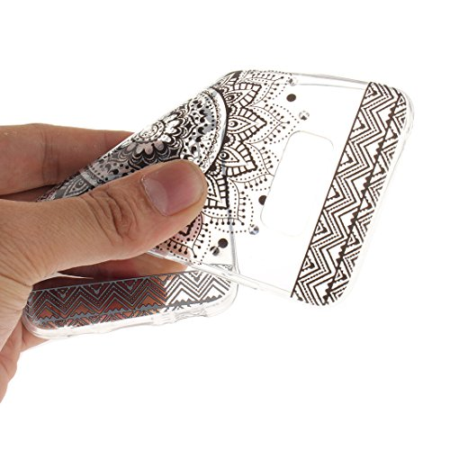 Galaxy S8 Plus Schutzhülle, Rosa Schleife Samsung Galaxy G9550 Crystal Case Handyhülle Ultra Dünn TPU Silikon Backcover Durchsichtig Gel Case Diamond Bling Schutzhülle klar für Samsung Galaxy S8 Plus  a - Schwarz Mandala