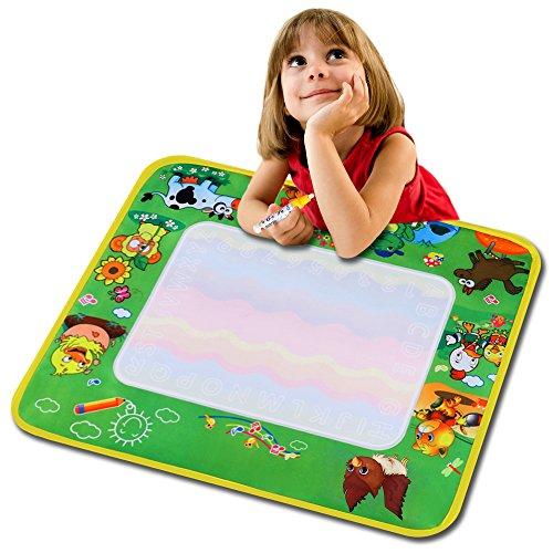 Tomasa Kinder Baby Wasser Malerei Zeichnung Schreibmatte Malmatte mit Wasserstift malen tuch Spielzeug Geschenk für Kinder babay