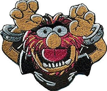 Muppets Animal Party Hard Monster Rockabilly bestickt Patch Aufnäher oder zum Aufbügeln 9cm (Muppets-party Animal)