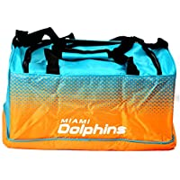 Miami Dolphins Basketball Official Nylon Holdall Club Colours Team Crest Strap